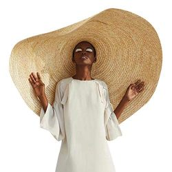 Beach Sun for Women,Floppy Straw Hat Large Brim Sun Oversized Hat Ladies Women Wide Brim Straw R ...