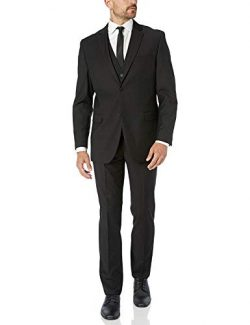 Adam Baker by Creative Men's CT601/01-3 Piece Single Breasted Slim Fit Vested Suit – ...