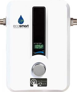 EcoSmart 8 KW Electric Tankless Water Heater, 8 KW at 240 Volts with Patented Self Modulating Te ...