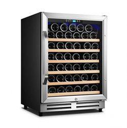 """Karcassin 24"""" 54 bottle built in wine cooler single zone S.S door and handle, digital temp ..."""