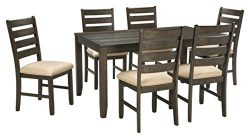 Signature Design by Ashley D397-425 Industrial Dining, Rolena 7-piece Set Brown