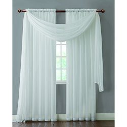 VCNY INF-PNL-5595-IN-WH Infinity Sheer Panel, 55 by 95-Inch, White