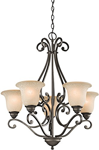 Kichler 43224OZ Camerena Chandeliers Lighting, Olde Bronze 5-Light (27″ W x 31″ H) 5 ...