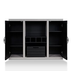 HOMES: Inside + Out Cato Industrial Buffet, Black/Cement
