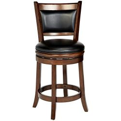 Ball & Cast Counter Stool – 24 Inch Seat Height, Cappuccino