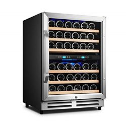 Karcassin Wine Cooler Refrigerator – Compressor Wine Bottle Chiller – 2 Compartment  ...