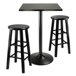 Winsome Obsidian 3-Piece Pub Table Set