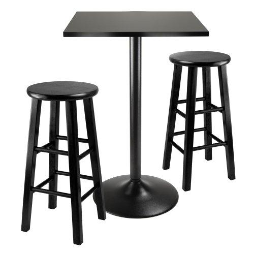 Winsome Obsidian 3-Piece Pub Table Set