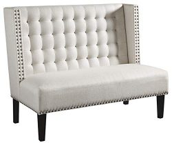 Ashley Furniture Signature Design – Beauland Accent Bench/Settee – Contemporary Chic ...