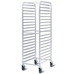 Giantex 20-Tier Kitchen Bun Pan Sheet Rack Aluminum Bakery Rack Home Commercial Kitchen Bakery C ...