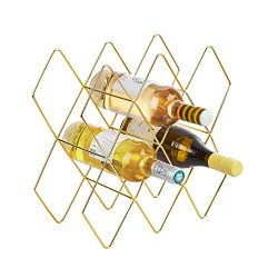 Fxin 8-10 Metal Wine Bottle Wine Rack,Wine holder,Wine Racks Free Standing,Wine holders stands,  ...