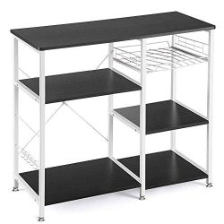 Vanspace Kitchen Baker's Rack Utility Storage Shelf Microwave Stand 3-Tier + 3-Tier Kitche ...