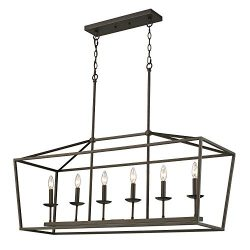 Emliviar 6-Light Kitchen Island Pendant Lighting, Island Light Fixtures in Oil Rubbed Bronze Fin ...