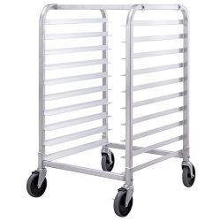 Giantex 10 Tier Aluminum Bakery Rack Home Commercial Kitchen Bun Pan Sheet Rack Mobile Sheet Pan ...
