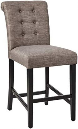 Ravenna Home Modern Counter Stool, Set of 2, 38.25″H, Grey