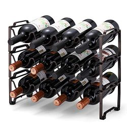 Simple Trending 3-Tier Stackable Wine Rack, Standing Bottles Holder Organizer, Wine Storage Shel ...