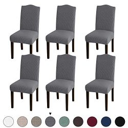 Turquoize Stretch Dining Chair Velvet Fabric Slipcovers Washable Removable Chair Slipcover Dinin ...