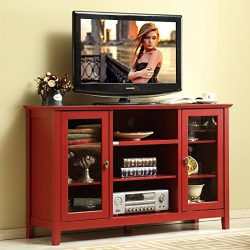 Mixcept 52″ Modern Stylish Sideboard Buffet Table Cabinet Tall Console Table Storage Cabin ...