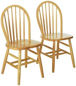 Winsome 81836 Windsor 2Pc Set RTA Chair, Natural