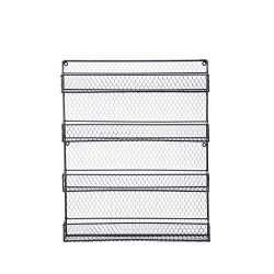4-Layer Black Wall-Mounted Spice Rack for Cabinet Sideboard Doors Kitchen Organizer Cleaner,Ship ...