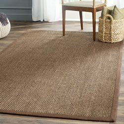 Safavieh Natural Fiber Collection NF443D Tiger Eye Brown Sisal Area Rug (8′ x 10′)