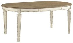 Signature Design By Ashley – Realyn Oval Dining Room Extention Table – Casual Style  ...