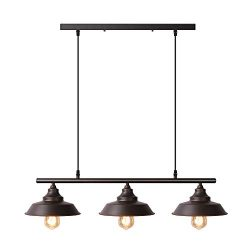 Black Pendant Lighting Kitchen Island Light Baking Paint Finish with Highlights Rustic Lighting  ...