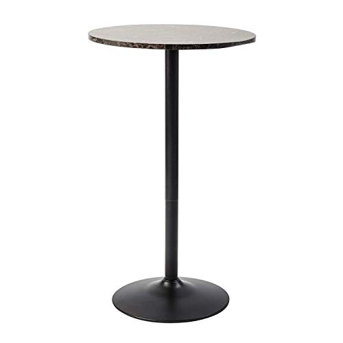 Pearington Lucia Round Bar and Pub Table with Faux Marble Top, 1 Pack,