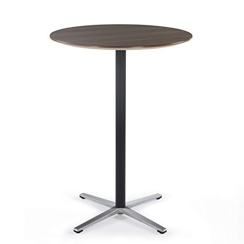 Sunon Round Bar Table Tall Bar Table for Pub/Bistro/Cocktail Table with Height Black Pedestal an ...