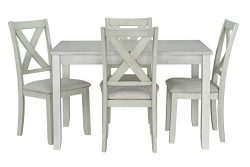 Ready To Live Sandpiper White Dining Table and Chairs Set