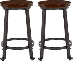 Ball & Cast Counter Height, Set of 2 Bar Stool, Rustic Brown