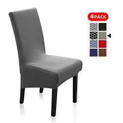 Stretch Dining Chair Slipcovers, XL/Oversized Removable Washable Soft Spandex Extra Large Dining ...