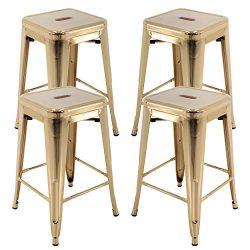 Vogue Furniture Direct 24″ Barstools Backless Metal Barstool Indoor-Oudoor Counter Height  ...