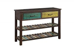 ALI VIRGO Retro Console Table Buffet Sideboard Sofa Desk for Entryway Hallway Bathroom Living Ro ...