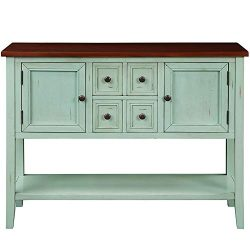 Romatlink Classic Design Antique Retro Buffet Dining Sideboard with 4 Storage Drawers, 2 Cabinet ...
