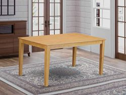 East West Furniture Rectangular Dining Table with Solid Wood Top, 36-Inch by 60-Inch