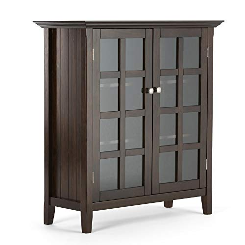 Simpli Home AXCRACA15-BRU Acadian Solid Wood 39 inch Wide Rustic Medium Storage Cabinet in Brune ...