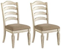 Signature Design By Ashley – Realyn Dining Upholstered Side Chair – Set of 2 – ...