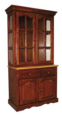 Sunset Trading Buffet with Hutch in Nutmeg and Light Oak