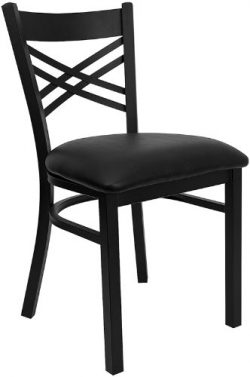 "Flash Furniture 4 Pk. HERCULES Series Black ""X"" Back Metal Restaurant Chair –  ..."