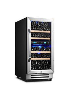 Karcassin 15 inch Wine Cooler Refrigerator – Compressor Wine Bottle Chiller – Dual T ...