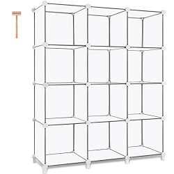 TomCare Cube Storage 12-Cube Book Shelf Storage Shelves Closet Organizer Shelf Cubes Organizer P ...