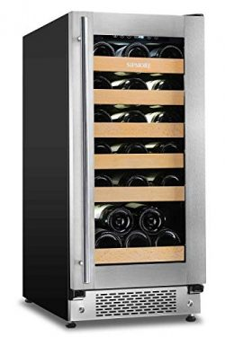 Sipmore Wine Cooler and 15 Inch Wine Refrigerator 30 Multi-Size Bottle Single Zone Built-in or F ...