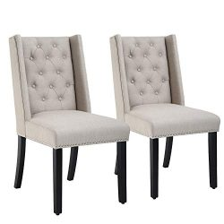 Dining Chairs Set of 2 Dining Room Chairs for Living Room Kitchen Chairs Parsons Chair Mid Centu ...
