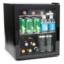 Igloo IBC16BK 60-Can Double-Pane Glass Door Beverage Cooler or 15-Wine Bottle Wine Center for So ...