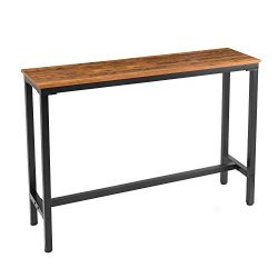 Mr IRONSTONE 55.1″ Bar Table Pub Dining Height Table Vintage Bistro Table (Indoor USE ONLY)