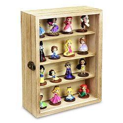Ikee Design Wall Mounted Collectible Display Case Shadow Box with a Lock and Key