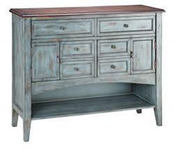 Stein World Furniture Hartford Buffet/Server, Distressed Moonstone Antique Blue/Wood Tone