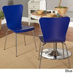 Simple Living Pisa Bentwood Stackable Dining Kitchen Chairs (Set of 2) (blue)