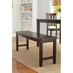 Better Homes and Gardens Brown Two Seat Dining Bench, Mocha, Espresso for Table, Hallway, Entryw ...
